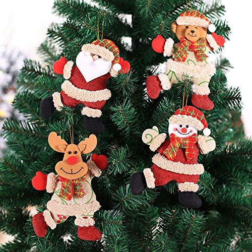 strimusimak Adorno De árbol De Navidad Colgante Adorno Colgante Decoración De Navidad para El Hogar (Papá Noel, Muñeco De Nieve, Alce) Papá Noel