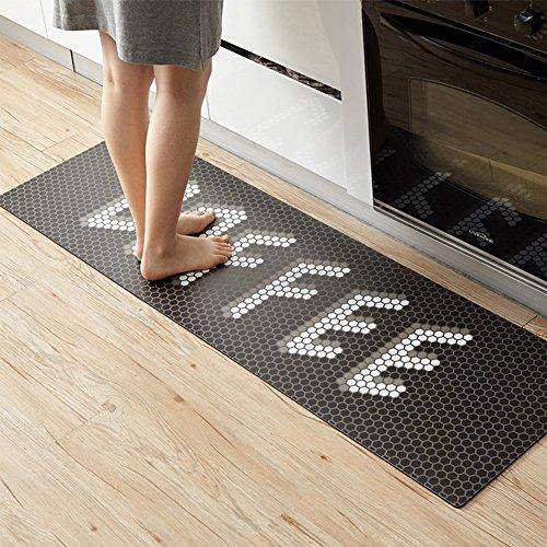 WENZHE Tapis De Cuisine Tridimensionnel Antidérapant Matériel De PVC Marron, Épais 4mm, 5 Tailles (taille : 45 * 150cm)
