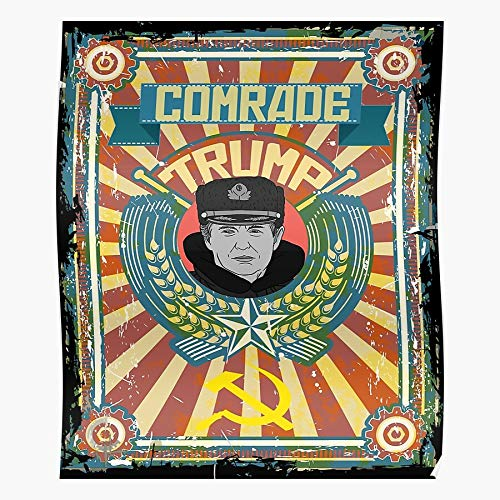 kineticards Putin Protest Treason Trump Resist Hack Comrade Propaganda Russian Hat | Home Decor Wall Art Print Poster
