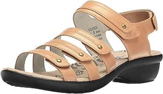 Propet Women's Aurora Wedge Sandal, Oyster, 6.5 4E US
