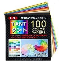 トーヨー 007200 タント100カラーペーパー 15cm 100枚入 おまとめセット【3個】