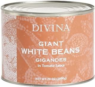 Divina Giant White Beans In Tomato Sauce, 4.4 Lb.