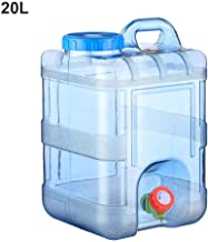fervory Contenedor De Agua para Acampar Grifo Plástico Contenedor De Bebidas Tanque De Almacenamiento De Agua con Válvula Cubo De Viaje Al Aire Libre