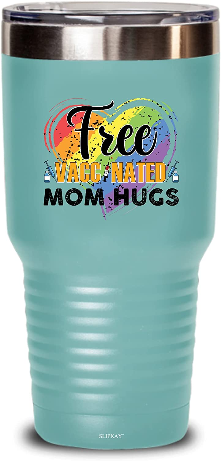 At the price of surprise Gay Pride Lesbian Free Vaccinate Mom 2021 spring and summer new 30oz Gift Tumbler Lgbt Hugs