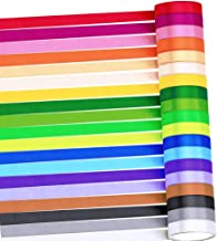 Supla 19 Rolls 19 Colors 190 Yard Satin Ribbon Rolls Satin Silk Ribbon for Crafts Gift Wrap Ribbons Fabric Ribbons Polyest...