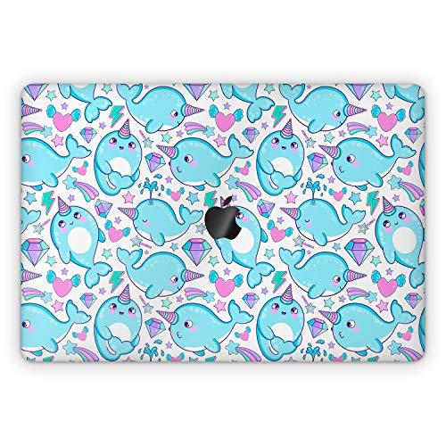 Lex Altern Skin Decal for Apple MacBook Pro 13 2020 Air Mac 16 2019 15 inch Retina 2018 2017 12 11 Cartoon Full Body Blue Whale Unicorn Kawaii Vinyl Top Cute Narwhal Laptop Kids Keyboard Cover mch008