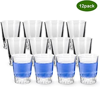 Shot Glasses, YULEER 2.5-Ounce Whiskey Glass Set, Clear Shot Glass Set of 12