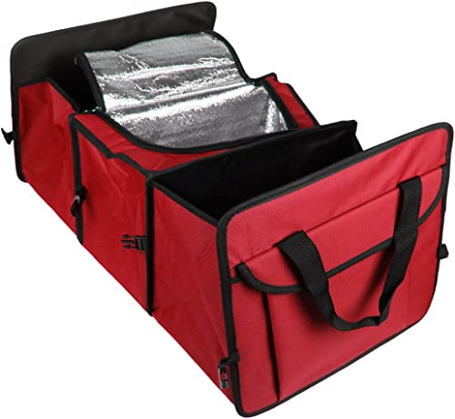2021 Foldable online sale 3-Compartment Auto Car Trunk Organizer popular With Cooling and Insulation online sale