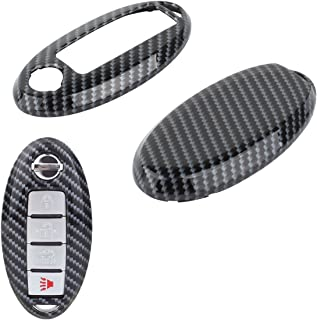 TOMALL Smart Remote Key Cover case for Nissan Armada Murano Rogue Maxima Altima Sedan Pathfinder Black Nissan Key Cover-Ca...