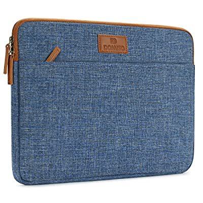 DOMISO Laptop Sleeve Canvas Case Tablet Bag Protect Computer Pouch Skin Cover