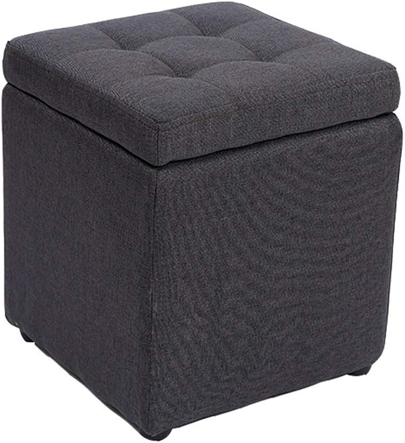 Wei Zhe- Storage Stool - Multi-Function Simple Fabric Storage Stool Multi-color Optional Non-Slip Storage Square Stool Footstool Sofa Stool Household Storage Stool (color   C)