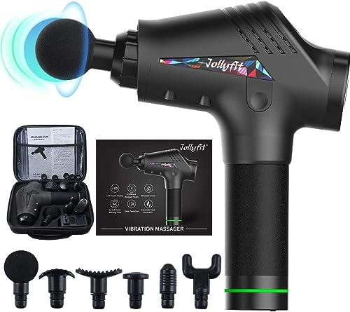 Jollyfit Massage Gun, Portable Handheld Body Muscle Massager Professional Deep Tissue, Back Neck Leg Massager Vibrati...
