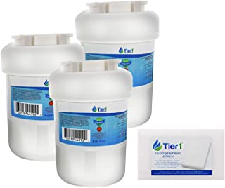 Tier1 Replacement for GE MWF, SmartWater, MWFP, MWFA, GWF, GWFA, HWF, Kenmore 9991, 46-9991, 469991 Refrigerator Water Filter (3-Pack) and Magic Erasing Sponge (12-Pack) Combo