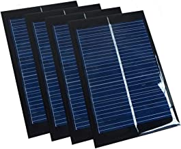 Set of 4 Pieces NUZAMAS 6V 100mA 90X60mm Micro Mini Solar Panel Cells For Solar Power Energy, DIY Home, Science Projects - Toys - Battery Charger