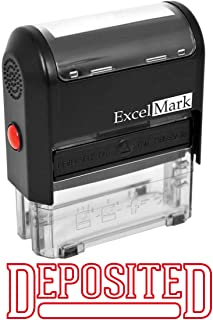 DEPOSITED - ExcelMark Self-Inking Rubber Stamp - Red Ink