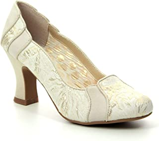Ruby Shoo 09262 Priscilla Cream/Gold