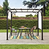 Sunjoy Diego 10x10 ft. Steel Classic Pergola with Adjustable Shade, White