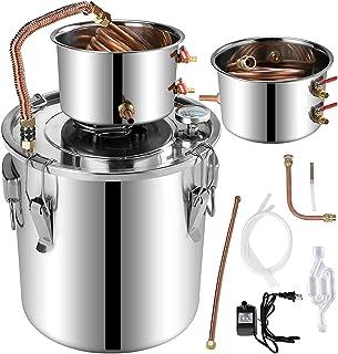 5Gal roestvrijstalen wateralcoholdistilleerder met ingebouwde thermometer DIY Home Brew Whisky Gin Brandy Making Koperen b...