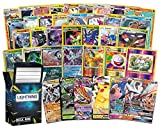 Pokémon Rare Bundle: 20 Rare Pokémon Cards, 2 Foil/Holographic Rare Card, 2 Ultra Rare Pokémon Cards Inside a Lightning Card Collection Deck Box. Your Cards May Vary- No Duplicates Ever