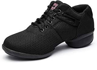 Zapatillas de Baile para Mujer Zapatillas Deportivas Zapatillas de Deporte de Malla Gimnasia Moderna y Deportiva Zapatillas de Ocio Jazz Gimnasia para Exteriores,Modello T10