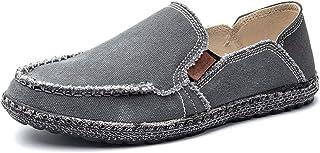 Liyuzhu Conduite Mocassins Hommes Bateau Mocassins Chaussures à Lacets sur Le Style Toile délavée Contracté Design Bout Ro...