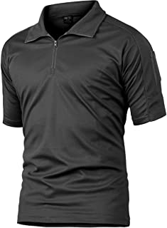 wear2me Men's Outdoor Slim Fit Military Tactical Pullover Combat Short Sleeve Camo Shirt