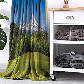 Blanket Bavarian Alps with Village of Berchtesgaden and Watzmann Massif National Park Germany Dorm Bed Nursery Crate Traveling W54 xL84