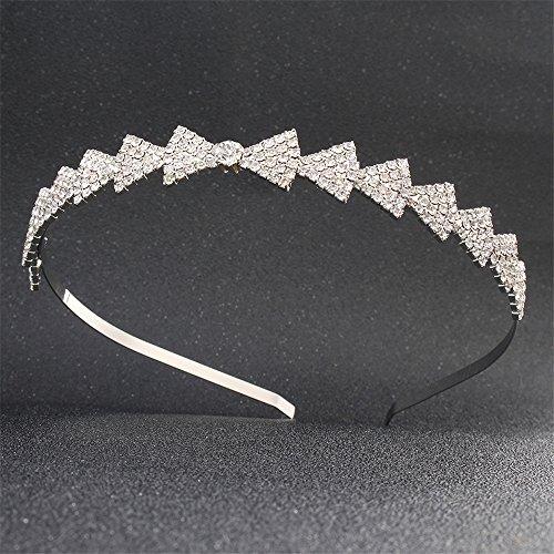 Weddwith Kopfschmuck Haarschmuck Europa und Amerika Mode Braut Krone Kopfschmuck Brautkleid Haarband Schmuck Kristall Haarschmuck