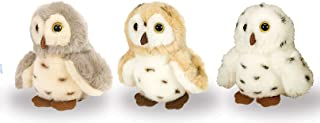 """Wild Republic 88119 Owl Assorted Plush, Stuffed Animal, Plush Toy, Gifts for Kids, Itsy Bitsy, 4.5"""""""