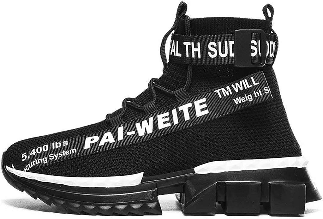Now free shipping Jakcuz Selling rankings Men's Hightop Non Slip Gym Sneakers Lightweight Breathabl