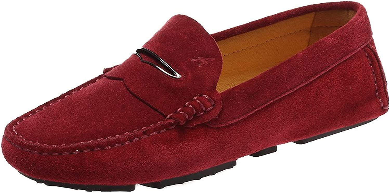 Ausland Women's Suede Leather Moccasin Loaffers Driving shoes 9123