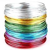 Creacraft Filo di gioielli 'Basic': 6 colori in rotoli (per 5 metri) - Filo d'alluminio anodizzato (2 mm)