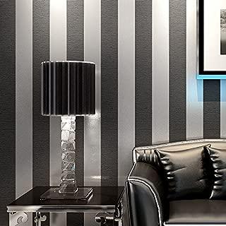 Modern minimalist non-woven cloth wallpaper living room bedroom tv wall wallpaper simple transverse vertical striped wallpaper,silver gray