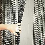 Wakects - Cortina de cortina de aluminio para puerta, cortina antimoscas, cadena de pantalla, cortina de puerta, decoración para salón, dormitorio, 0,9 x 2,1 m, color negro