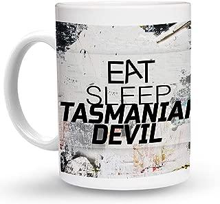 Makoroni - EAT SLEEEP TASMANIAN DEVIL Animal - 11 Oz. Unique COFFEE MUG, Coffee Cup