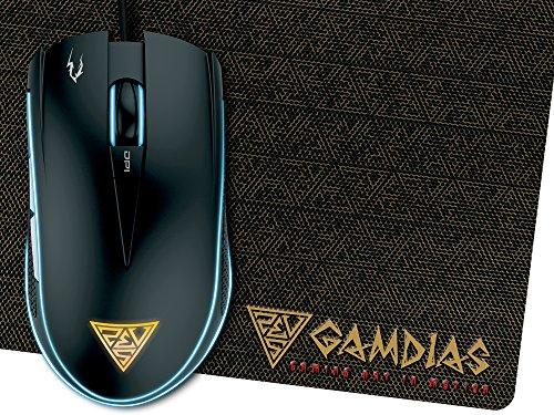 Gaming Raton Óptico De GAMDIAS 6 Pulsadores Inteligentes Y Doule RGB LED (ZEUS E1)