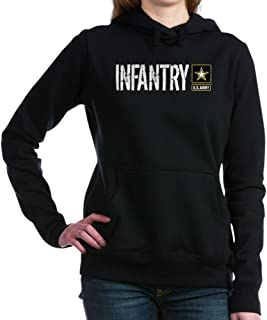 CafePress - U.S. Army: Infantry (Black) Women's Hooded Sweatsh - Pullover Hoodie, Classic & Comfortable Hooded Sweatshirt
