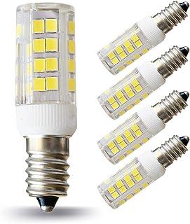 Lampaous Bombilla LED E14, luz blanca fría, 5 W, E14, SES, equivalente a bombillas halógenas de 50 W, ángulo de haz de 36...