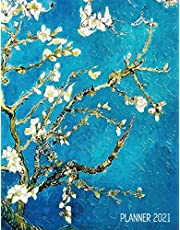 Vincent Van Gogh Planner 2021: Almond Blossom Painting - Artistic Impressionism Year Organizer: January - December - Large Dutch Masters Paintings Art ... Weekly Appointments, Monthly Meetings & Work