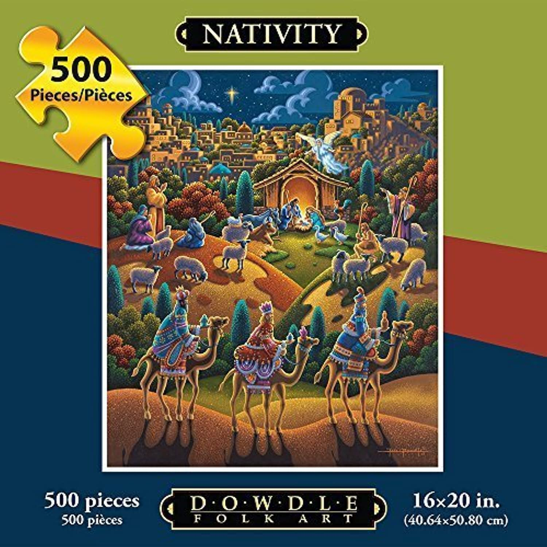 Dowdle Puzzle Nativity Scene (500 pieces) by Dowdle Folk Art (English Manual)