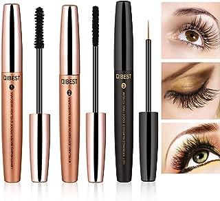 4D Fiber Lash Mascara with Eyelash Growth Serum & Silk Mascara Fiber, 3 In 1 Ultra Effective Use, Add Volume & Length Instantly, Nourishing, Waterproof, Long-Lasting Lash Enhancing Formula