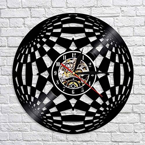 BFMBCHDJ Kaleidoskop LP Rekordzeituhr Modern Circle Vinyl Wanduhr Personalisierte CreativeWatch Wanduhr Kunst Wanddekoration Mit LED 12 Zoll