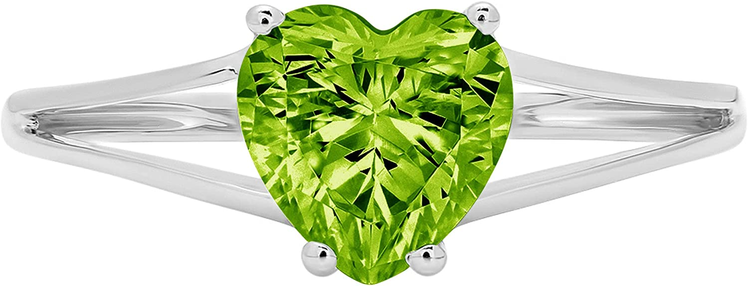 1.4ct Brilliant Heart Cut Solitaire split Be 5 popular super welcome shank Natural Genuine