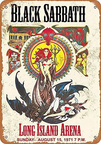 Lorenzo Black Sabbath Long Island Arena Vintage Metal Vintage Metallblechschild Wand Eisen Malerei Plaque Poster Warnschild Cafe Bar Pub Bier Club Dekoration