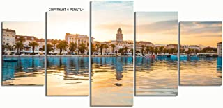 PENGTU Paintings Modern Canvas Painting Wall Art Pictures 5 Pieces Split Croatia July 12 2017 Beautiful Wall Decor HD Printed Posters Frame