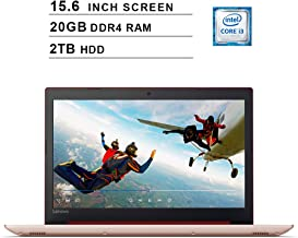 2019 Newest Lenovo Ideapad 330 15.6 Inch HD Laptop (8th Gen Intel Core i3-8130U up to 3.4 GHz, 20GB DDR4 RAM, 2TB HDD, Intel UHD Graphics 620, WiFi, Bluetooth, HDMI, Windows 10, Red)