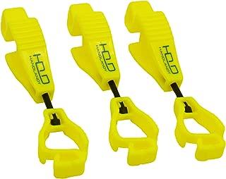 3 Pack Glove Clips, Work Gloves Grabber Holder Clip to Pants, Hi-vis Yellow