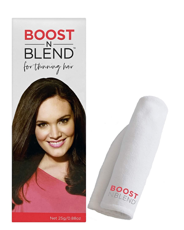 Spasm price BOOST N BLEND Black Hair Max 78% OFF Microfiber Concealer Tow Loss with
