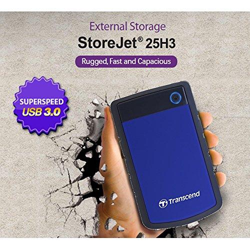 TranscendUSB3.0ポータブルHDDStoreJet2.52TB3年保証TS2TSJ25H3B(ブルー)