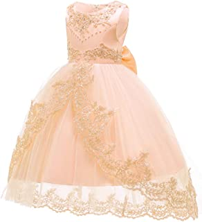 Áo quần dành cho bé gái – Little/Big Girls Princess Embroidered Beaded Piano Show Pageant Flower Girl Birthday Party Dress